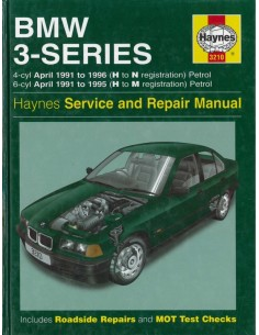 1991 - 1996 BMW 3 SERIE BENZINE HAYNES VRAAGBAAK ENGELS