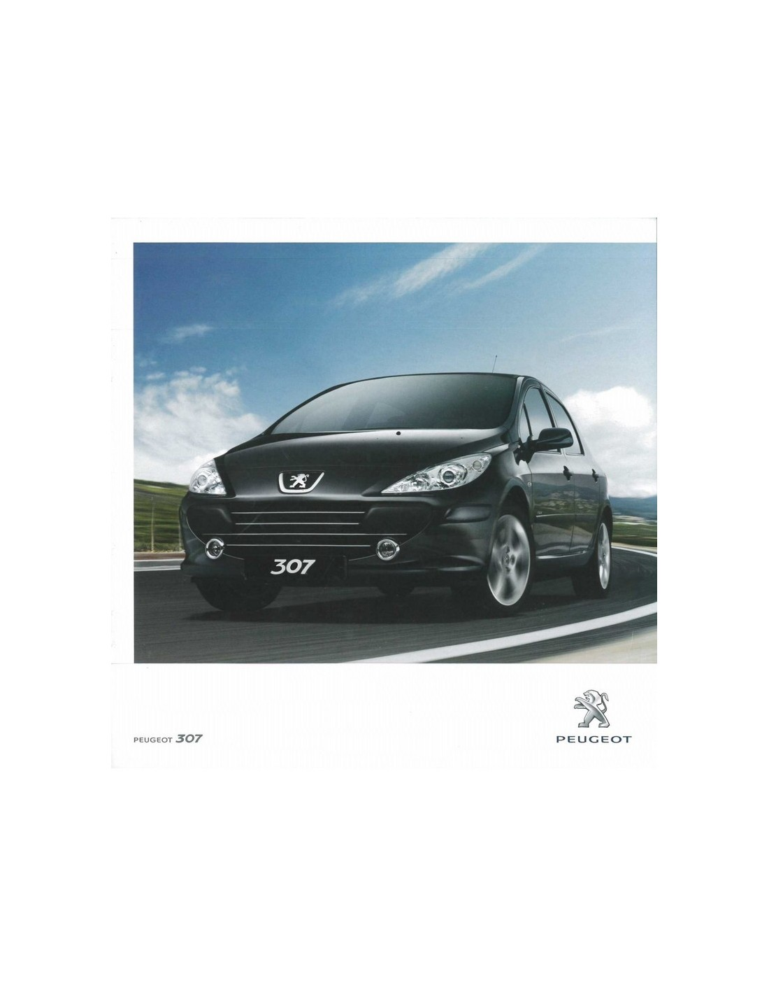 2010 peugeot 307 brochure portugesisch. Black Bedroom Furniture Sets. Home Design Ideas
