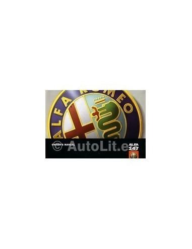 2004 ALFA ROMEO 147 INSTRUCTIEBOEKJE ENGELS
