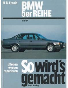 1987 - 1994 BMW 5 SERIE BENZINE DIESEL VRAAGBAAK DUITS