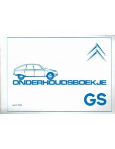 1974 CITROEN GS CLUB GARANTIE & ONDERHOUDS HANDLEIDING NEDERLANDS