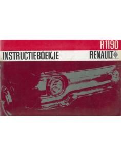 1965 RENAULT 10 MAJOR INSTRUCTIEBOEKJE NEDERLANDS