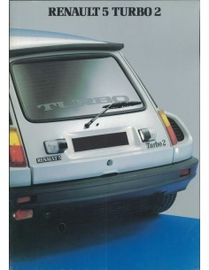 1983 RENAULT 5 TURBO 2 BROCHURE FRANS