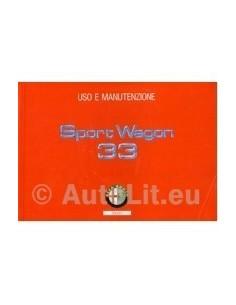 1991 ALFA ROMEO 33 + SPORTWAGON OWNERS MANUAL HANDBOOK ITALIAN