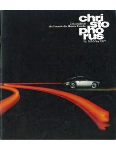 1987 PORSCHE CHRISTOPHORUS MAGAZINE 205 DUITS