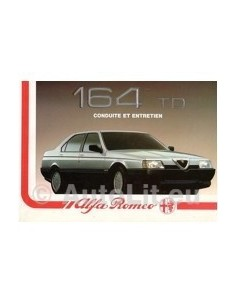 1988 ALFA ROMEO 164 TD INSTRUCTIEBOEKJE FRANS