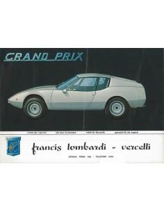 1968 FRANCIS LOMBARDI GRAND PRIX BROCHURE