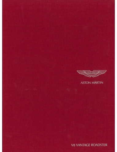 2007 ASTON MARTIN V8 VANTAGE ROADSTER HARDCOVER BROCHURE ENGELS