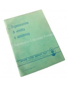 1974 MASERATI VERKOOP EN DEALERORGANISATIE HANDBOEK