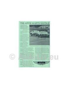 1978 ASTON MARTIN VANTAGE LEAFLET ENGLISCH
