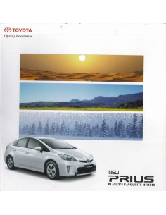 2014 TOYOTA PRIUS BROCHURE ENGELS (INDIA)