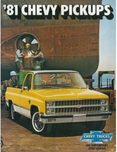 1981 CHEVROLET PICKUPS BROCHURE ENGELS