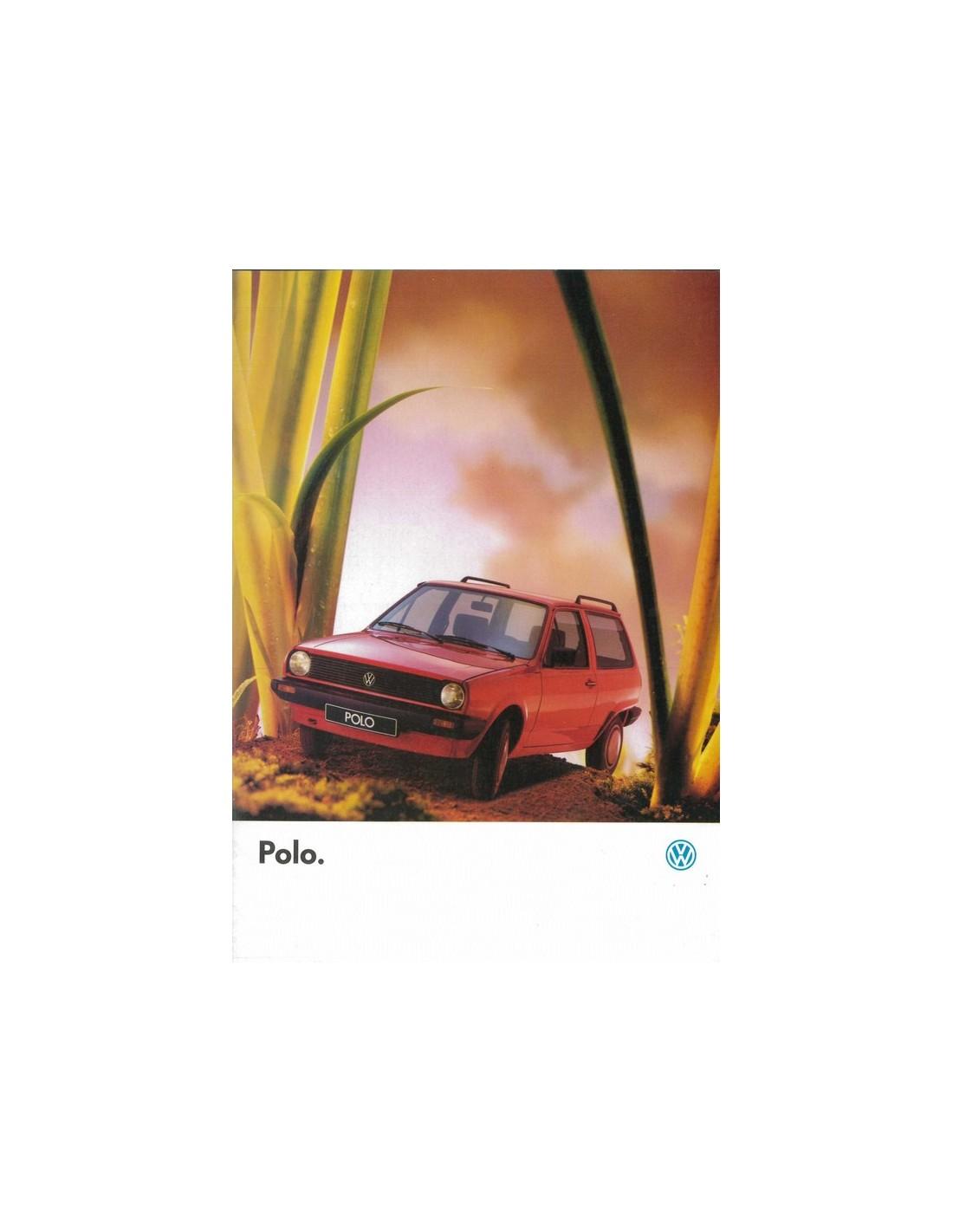 1988 Volkswagen Polo Brochure Frans