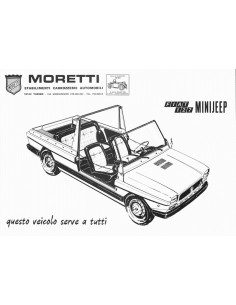 197? MORETTI FIAT 127 MINIJEEP LEAFLET ITALIAANS