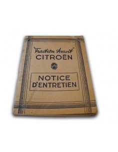 1947 CITROËN TRACTION AVANT INSTRUCTIEBOEKJE FRANS