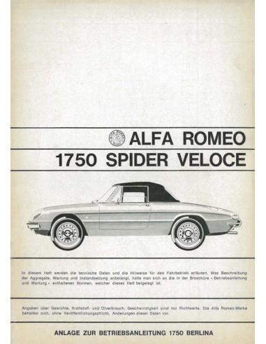 1968 alfa romeo spider 1750 veloce supplement owner s manual german rh autolit eu alfa romeo spider manual roof alfa romeo spider 916 manual