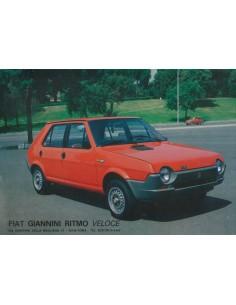 1978 FIAT GIANNINI RITMO VELOCE LEAFLET ITALIAANS