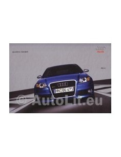 2005 AUDI RS4 QUATTRO HARDCOVER BROCHURE GERMAN