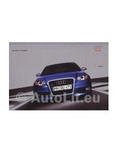 2005 AUDI RS4 QUATRO HARDCOVER PROSPEKT DEUTSCH