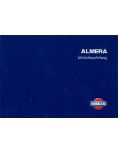 1998 NISSAN ALMERA INSTRUCTIEBOEKJE DUITS