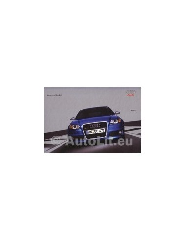 2005 AUDI RS4 QUATTRO HARDCOVER BROCHURE DUITS