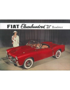 1956 FIAT 1100 TV ROADSTER LEAFLET ENGELS