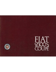 1964 FIAT 2300S COUPE BROCHURE ENGELS