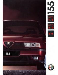 1992 ALFA ROMEO 155 BROCHURE DUTCH