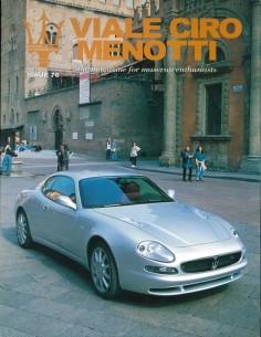 1998 MASERATI VIALE CIRO MENOTTI MAGAZINE ENGELS