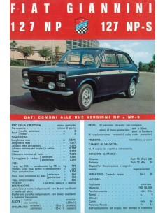 1972 FIAT GIANNINI 127 NP NP-S LEAFLET ITALIAANS