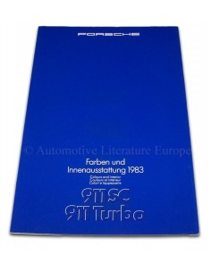 1983 PORSCHE 911 SC TURBO KLEUREN & INTERIEUR BROCHURE