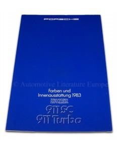 1983 PORSCHE 911 SC TURBO KLEUREN & INTERIEUR BROCHURE