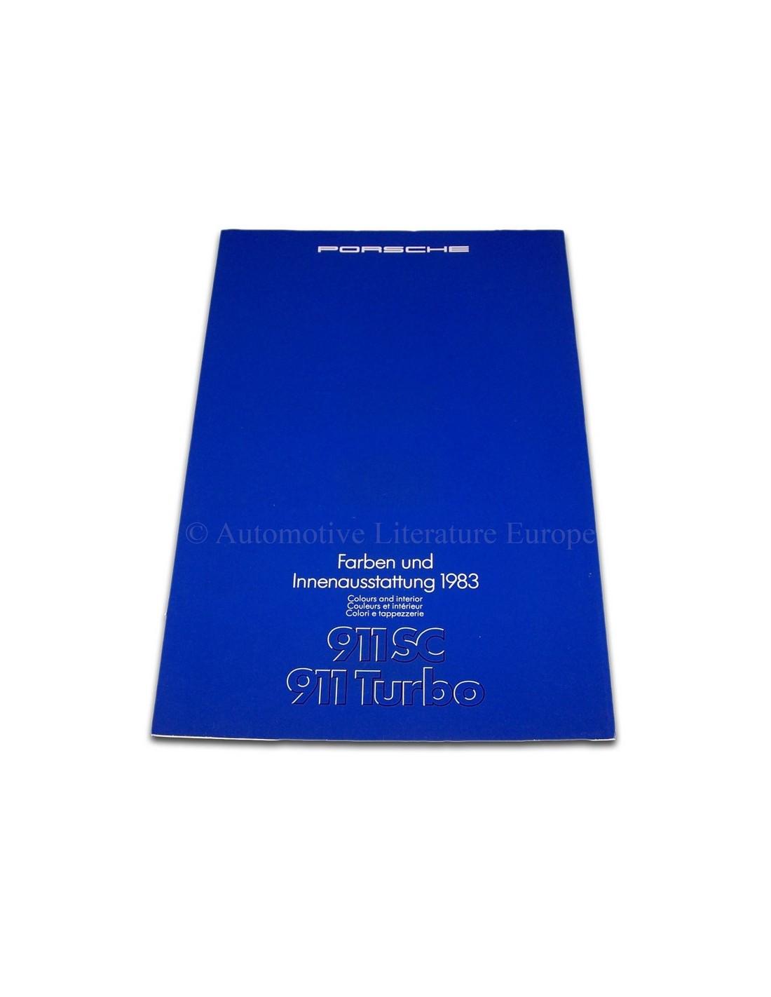 1983 porsche 911 sc turbo kleuren interieur brochure for Interieur 911 sc