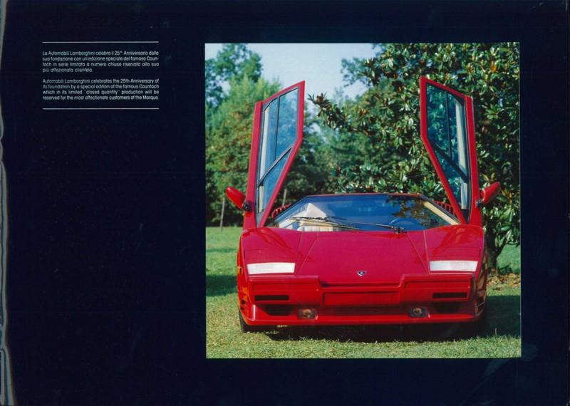 1988 Lamborghini Countach 5000 Quattrovalvole 25th Anniversary Broc
