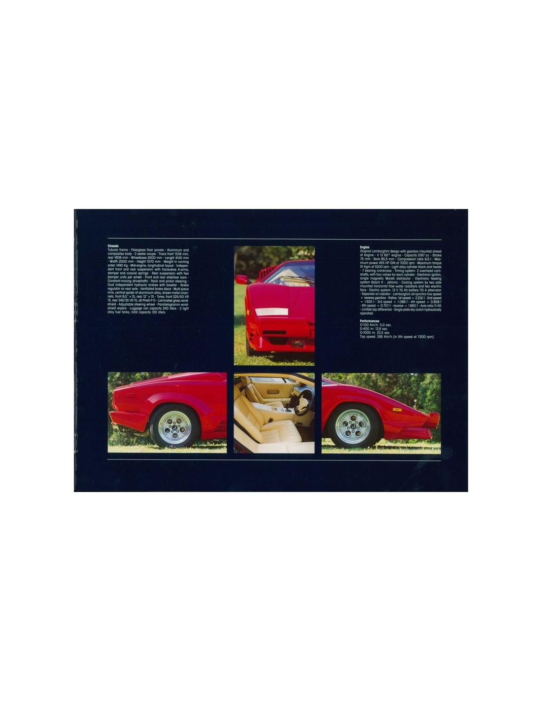 1988 Lamborghini Countach 5000 Qv 25th Anniversary Brochure