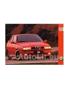 1995 ALFA ROMEO 155 LEAFLET DUTCH