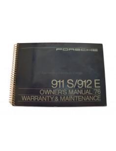 1976 PORSCHE 911 S & 912 E INSTRUCTIEBOEKJE ENGELS USA