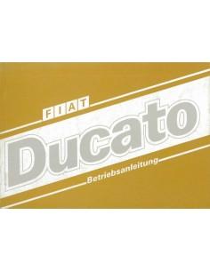 1987 FIAT DUCATO INSTRUCTIEBOEKJE DUITS