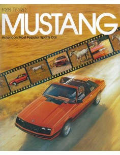 1981 FORD MUSTANG BROCHURE ENGELS USA