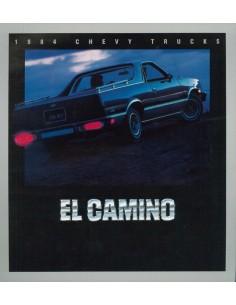 1984 CHEVROLET CHEVY EL CAMINO BROCHURE ENGELS