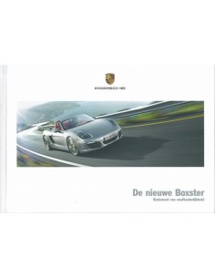 2012 PORSCHE BOXSTER HARDCOVER BROCHURE NEDERLANDS