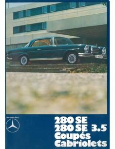 1971 MERCEDES BENZ 280 SE COUPE CABRIOLET BROCHURE DUITS