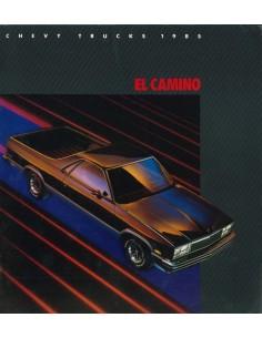 1985 CHEVROLET CHEVY EL CAMINO BROCHURE ENGELS