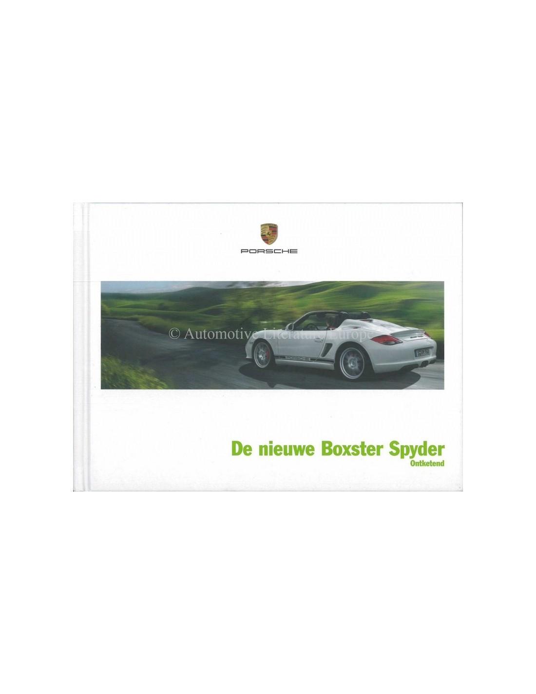 Bmw Z3 Brochure: 2010 PORSCHE BOXSTER SPYDER HARDCOVER BROCHURE DUTCH