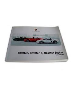 2011 PORSCHE BOXSTER & S & SPYDER INSTRUCTIEBOEKJE DUITS