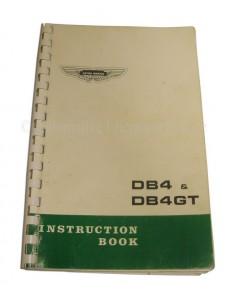1963 ASTON MARTIN DB4 & G.T. INSTRUCTIEBOEKJE ENGELS