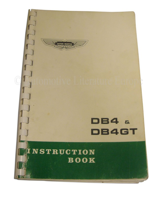1963 Aston Martin Db4 Amp Db4 G T Owner S Manual English border=