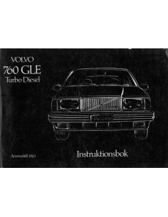 1983 VOLVO 760 GLE TURBO DIESEL INSTRUCTIEBOEKJE ZWEEDS