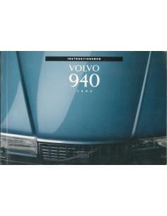 1993 VOLVO 940 INSTRUCTIEBOEKJE ZWEEDS