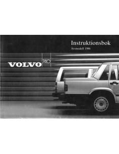 1986 VOLVO 740 INSTRUCTIEBOEKJE ZWEEDS
